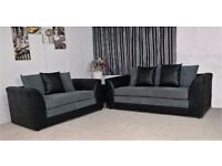 LEFT OR RIGHT HAND SIDES AVAILABLE NOW- BRAND NEW JUMBO CORD BYRON CORNER / 3+2 SOFA SET