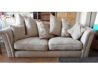 EX DISPLAY 3 seater Cream fabric sofa