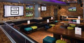 Bar Staff Needed Urgently for busy Sports bar. Xmas availability preferred.