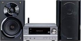 SHARP XL-HF401PH HiFi Component Stereo 100W RMS dock Airplay WiFi DLNA RDS FM Tuner USB Wireless