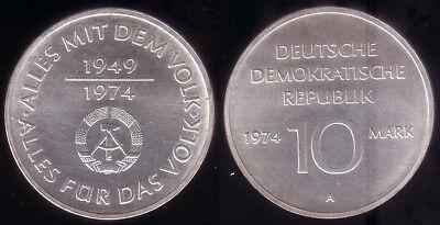 """10 M 1974 """"25 Jahre DDR Materialprobe"""" selten"""