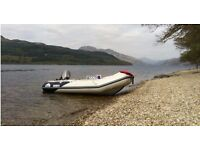Honwave T38-IE1 Air V-Floor with Mariner Marathon 25hp Outboard