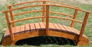 Amish made Ontario cedar garden bridge kits - FREE SHIPPING