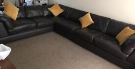Sterling Real Leather Large Corner Sofa