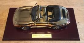 Porsche 911 Carrera cabriolet, plated in 22ct Gold £200
