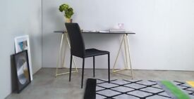 Brand New Patrizia Glass Stunning Desk / Table from made
