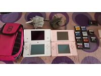Nintendo dsi and nintendo ds lite, comes with 11 games to chargers and carry bay
