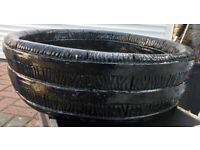 LARGE HEAVY STONE BEAUTIFUL BLACK GARDEN PLANTER, LITTLE USED, BARGAIN ONLY £40, CAN DELIVER