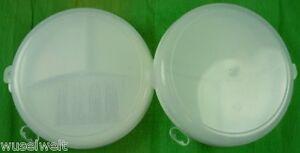 2 Stück Menüteller aus Kunststoff für Mikrowelle 3-fach Unterteilt Menü Teller
