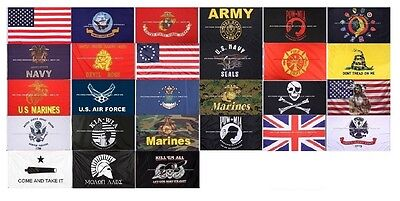 Military US Banner Flag Double Stitched 3' ...