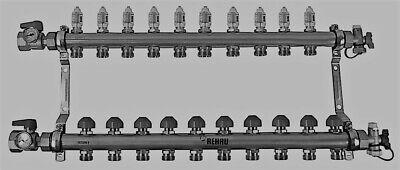 Rehau Stainless Steel Pro-balance Radiant Heat Manifold- 10 Circuit 381110-001