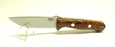 Bark River Knives Bravo 1, A-2 Tool Steel, Desert Ironwood #1 with Red Liners