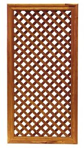 Celosia de madera 92x46 cm enmarcada y tratada para - Celosia leroy merlin ...