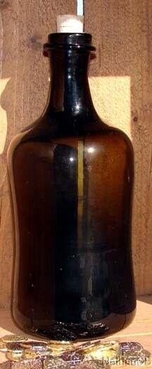 17th Century Handblown  Pirate Caribbean  Rum  Bottle