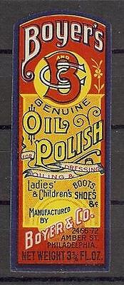 Boyer Oil polish for ladies and children shoe boots label MNH poster cinderella