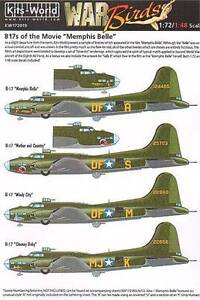 Kitsworld KW172019 B17 F/G Flying Fortress - 1:72/1:48 Scale includes Sally B
