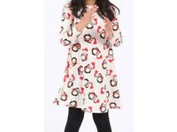 Girls penguin print Christmas dress