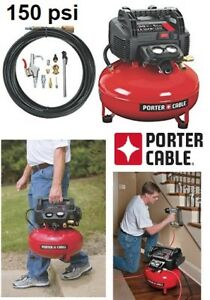 NEW PORTER CABLE OIL-FREE UMC PANCAKE COMPRESSOR WITH 13PC KIT