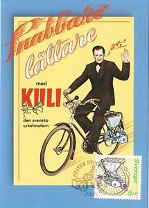 Classic-Vintage-Kuli-Great-Moped-Bicycle-Motor-Bike-Sweden-Maxi-FDC-2005