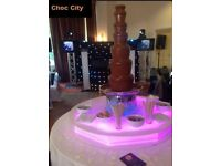 7 tier CHOCOLATE FOUNTAIN+LED BASE £250 ONLY available for hire for all your events