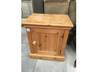 Pine Solid Cabinet, in good condition sizes L 21 in D 15 in H 24 in feel free to view