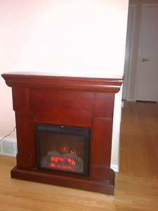 Electric Fireplace with corner Option