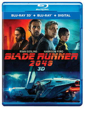 Blade Runner 2049  Blu Ray 3D   Blu Ray   Digital  Ryan Gosling  Harrison Ford