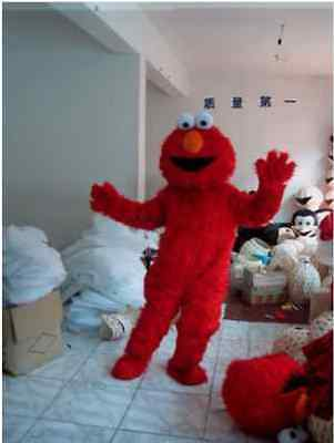 Cartoon Character Red Monster Mascot Fancy Dress Halloween Costume Adult Suits - Halloween Cartoon Monsters