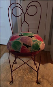 SWEET METAL VANITY CHAIR by a Talented Artist! One of a kind!