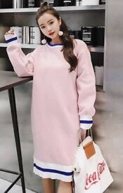 Pregnant mama oversized top pink/grey retail or wholesale job lots