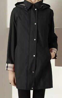 BURBERRY BRIT Bowpark Raincoat Removable Hood & Vest. Zip/Snap Black UK 6, US (Burberry Uk)