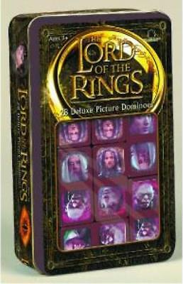 LORD OF THE RINGS DOMINOES ~ NEW LINE CINEMA DELUXE SET in GIFT TIN Tolkien