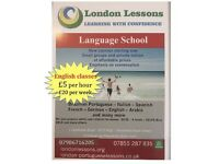 English courses/lessons/classes starting now