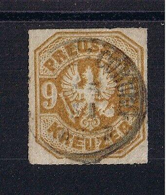 Preußen o MiNr 26a Adler im Achteck 9 Kreuzer o Coburg