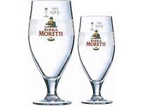 Birra Moretti Glasses CE marked BNIB