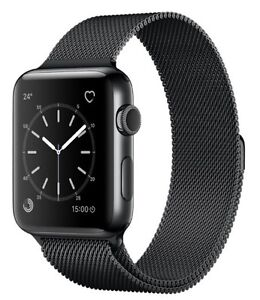 Apple Watch Series 2 42mm Stainless Steel Milanese Black, AppleCare Thornlie Gosnells Area Preview