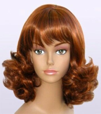 1950S 60S WOMENS LONG CURLY FLIP UP END BOTTOM WIG PEGGY SUE COSTUME VINTAGE](1950s Wig)