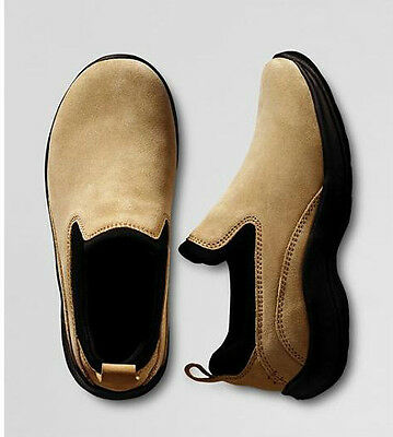 Lands' End Toddler All Weather Mocs Shoes Size 5 Dark Tan Retail $29.50