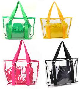 Womens-Transparent-Clear-Beach-Casual-Shoulder-bag-girls-purse-ladys-handbag
