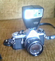 Pentax ME with Flash