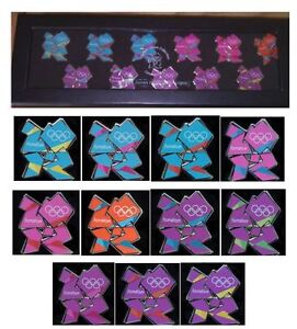 LONDON 2012 OLYMPICS VENUE LOGO COLLECTION SET - 11 PIN BADGES PRESENTATION BOX