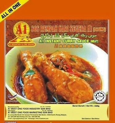 A1 Instant Curry Sauce 230g (628MART) (Meat, 1 - Instant Curry Sauce