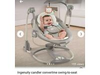 Ingenuity candler convertme 2 in 1 swing and seat