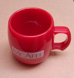 New mugs with assorted colors and logos