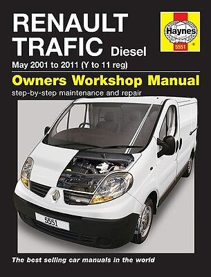Renault Trafic Van Diesel 2001-2011 Haynes Manual 5551 NEW