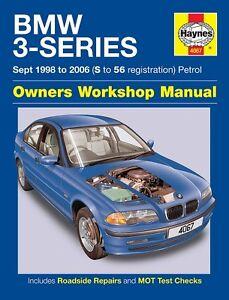 Haynes Manual BMW 3-Series E46 316 318i 320i 323i 1998-2006 4067 NEW Updated