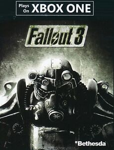 FALLOUT 3 FULL GAME DLC FOR XBOX ONE UP FOR SALE OR TRADE !!!!