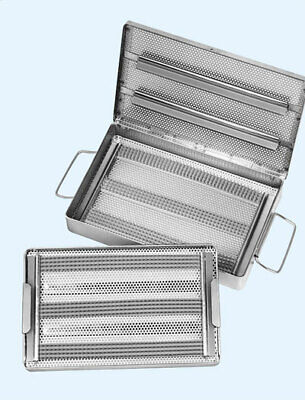 Micro Instrument Surgical Sterilization Tray Double Case As1143dc 10.5x20x2.5
