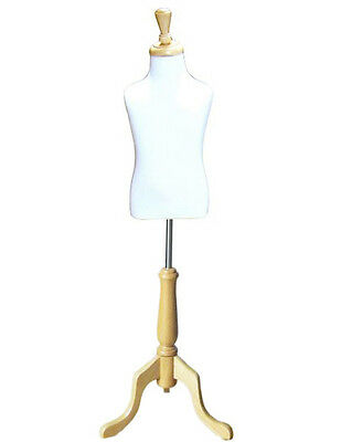 Mn-507 White Toddler Pinnable Dress Form W Wood Tripod Stand Sizes 3-4 Small