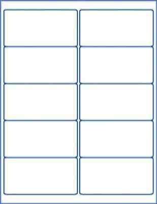 250 Blank Labels Mailing Shipping Address Stickers 4x2 Desktop Printer Sheet